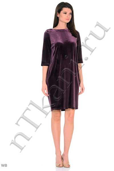 бархатное бордовое платье