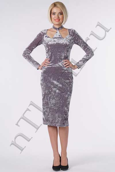 Серое и платье из бархата