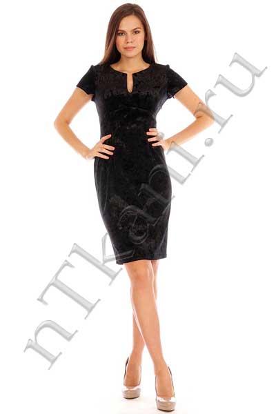 черное бархатное платье