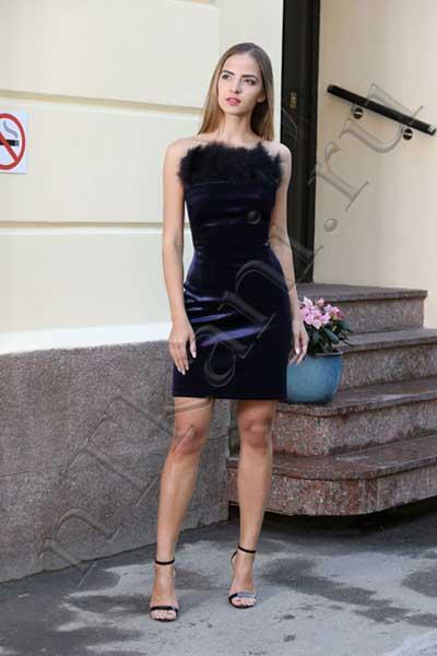 бархатное платье корсет