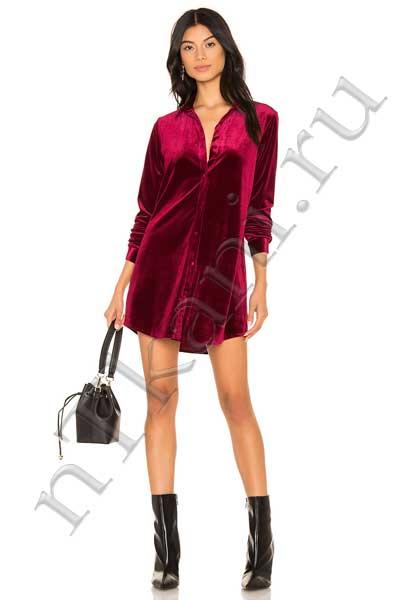 бархатное платье рубашка