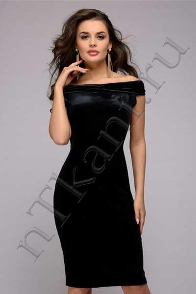 платье футляр из бархата