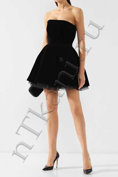 бархатное платье бюстье
