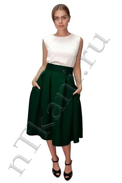бархатная юбка колокол