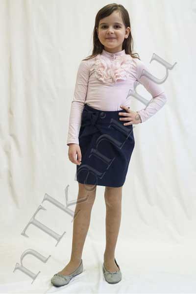 юбка из бархата тюльпан