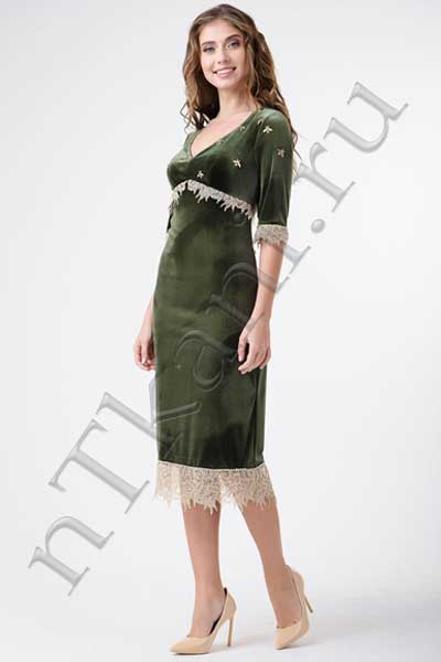 велюровые вечерние платья