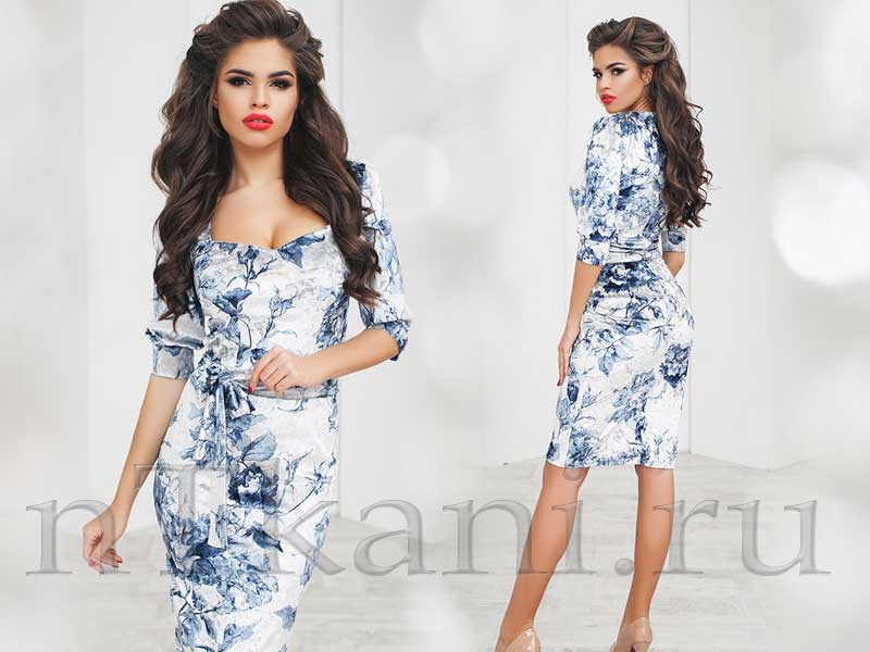 красивые платья миди велюр