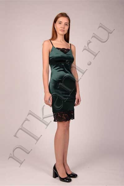 велюровое платье бюстье