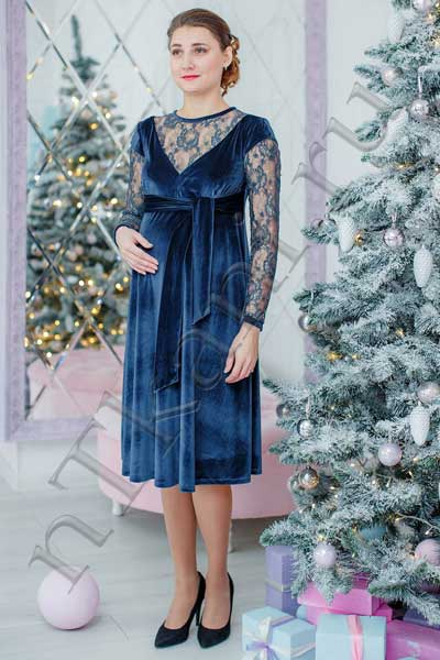 платья из велюра для беременных