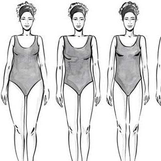 типовые размеры женской фигуры таблица
