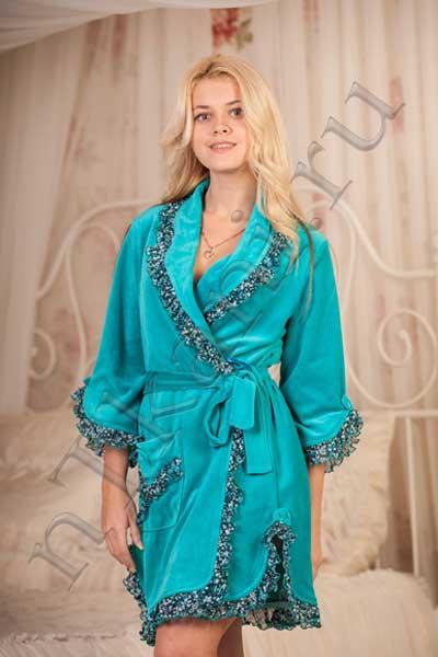 велюровый халат
