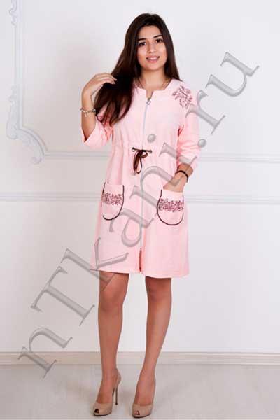 велюровый халат женский