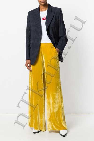 широкие бархатные брюки