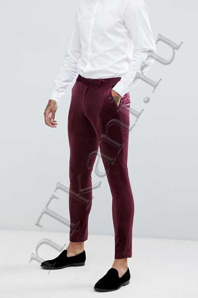Узкие бархатные брюки