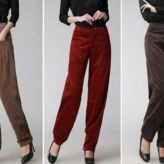 с чем носить бархатные брюки