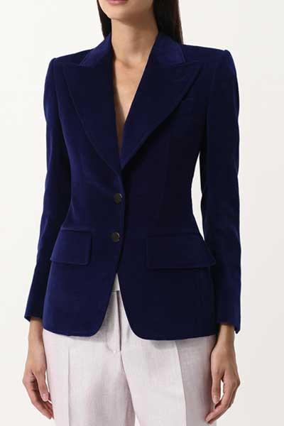 приталенный вельветовый женский пиджак