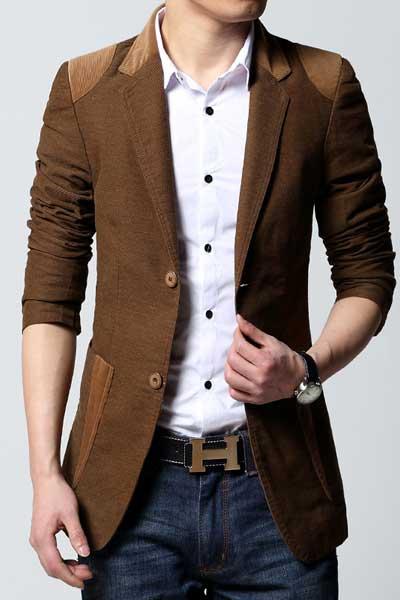 Удлиненный вельветовый пиджак