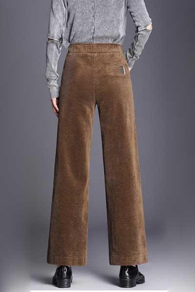 широкие вельветовые брюки