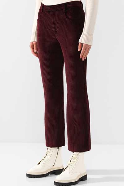 брюки из вельвета прямого кроя