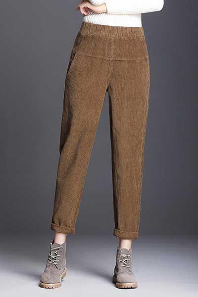 вельветовые брюки на резинке