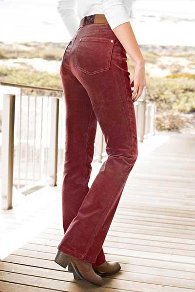 вельветовые брюки с высокой талией