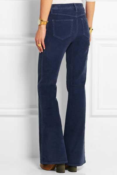 синие вельветовые брюки