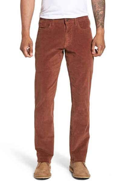 коричневые вельветовые брюки