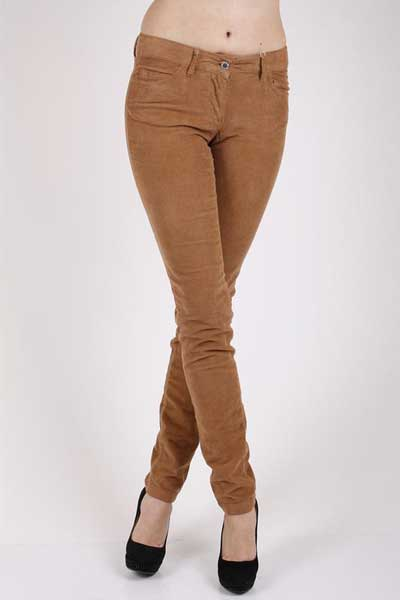 вельветовые коричневые брюки женские