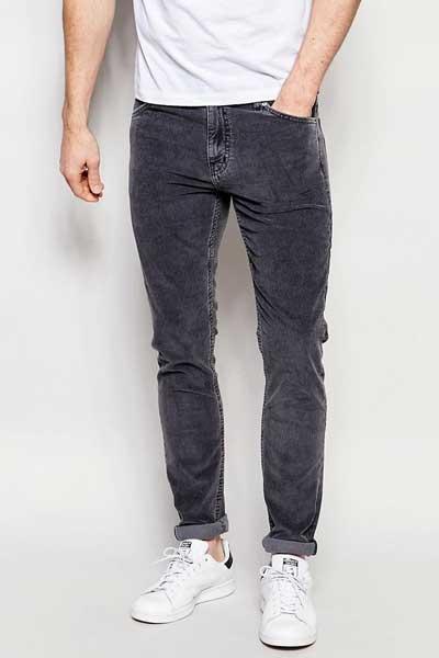 серые вельветовые брюки