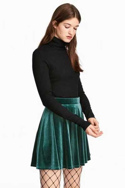 вельветовая юбка клеш