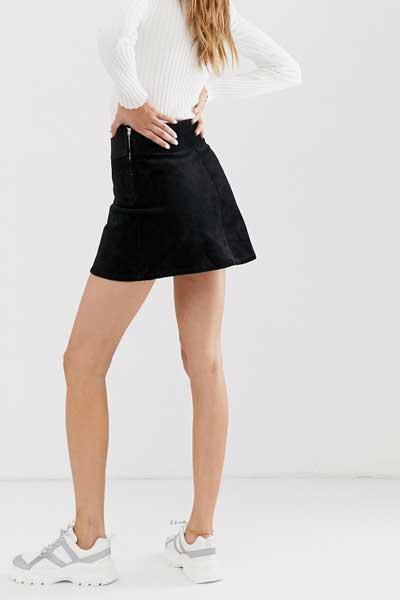 черная вельветовая юбка