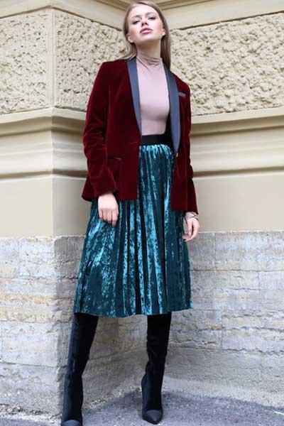 юбка из вельвета фасоны
