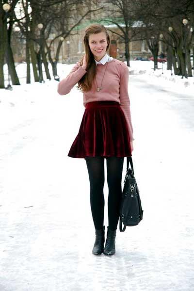 юбки из вельвета фото