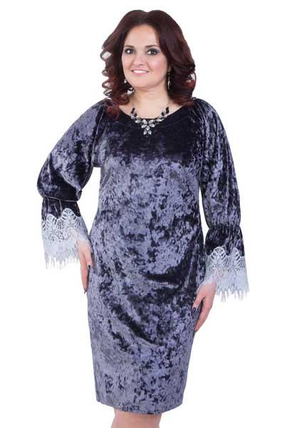 платье из вельвета для полных женщин