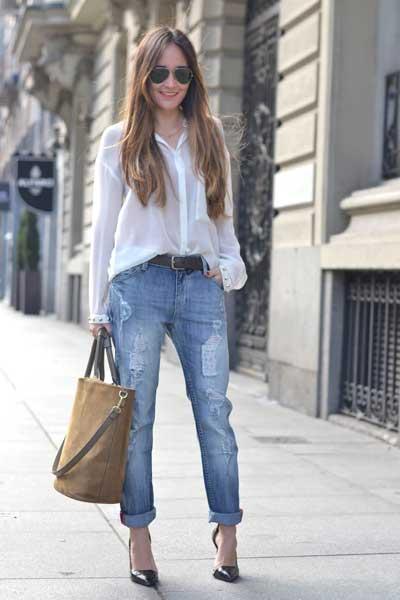 джинсы бойфренды женские с чем носить летом