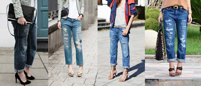 джинсы бойфренды женские