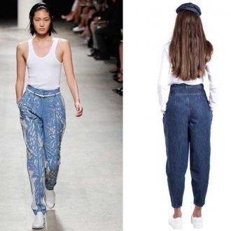 джинсы бананы женские