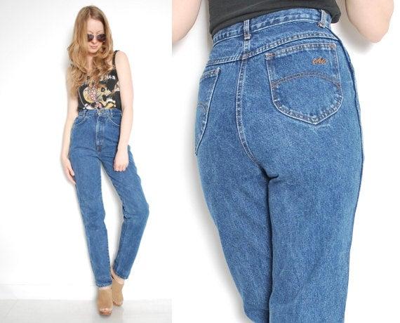 Винтажные МОМ джинсы