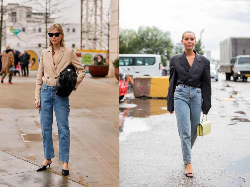 джинсы мом с чем носить