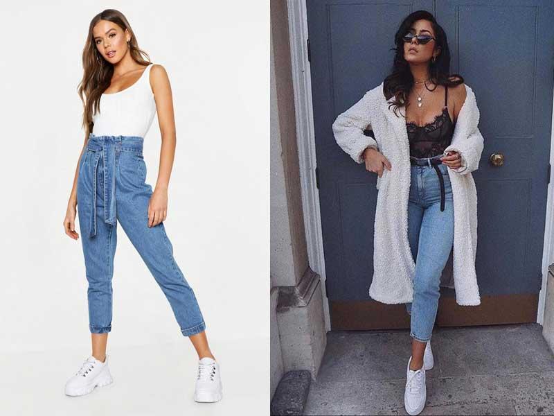 джинсы mom fit