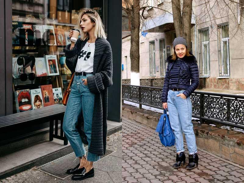 джинсы мом с чем носить осенью и весной
