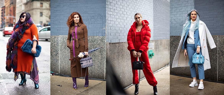 На улице Нью-Йорка в 1 день Недели моды осень 2020