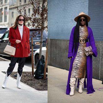 Смелые принты были повсюду в 3 день недели моды в Нью-Йорке