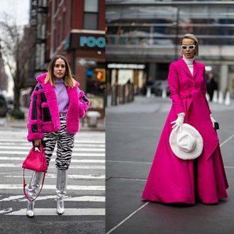 Ярко-розовый был уличным хитом в 4 день Недели моды в Нью-Йорке