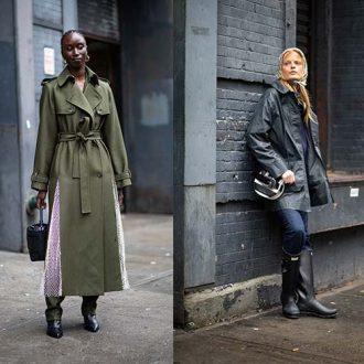 Гладкая кожа - основной лук на 5-й день Недели Моды в Нью-Йорке