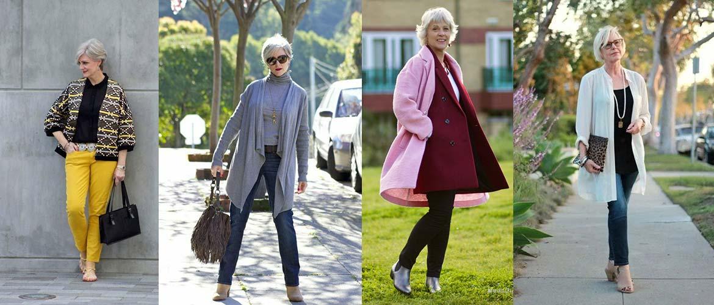Три модных образа для женщины за 50