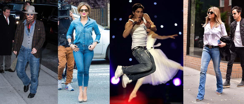 Знаменитости, которые не вылезают из джинсов