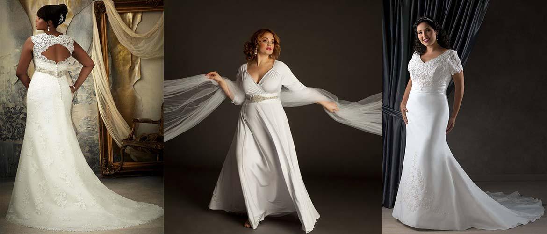 Три фасона свадебных платьев для полных невест