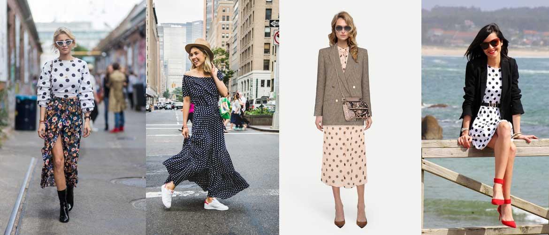 Как парижанки носят вещи в горошек