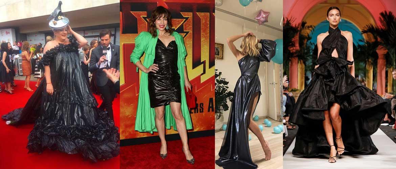 Платье как мусорный пакет
